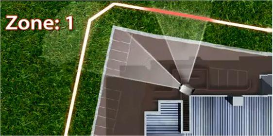 Интегрированная система охраны периметра - система MicroTrack управляет поворотной камерой